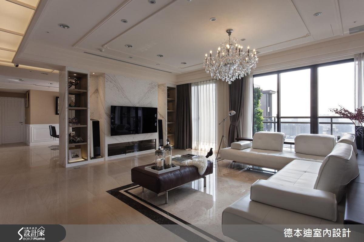 65坪新成屋(5年以下)_新古典客廳案例圖片_德本迪室內設計有限公司_德本迪_06之5