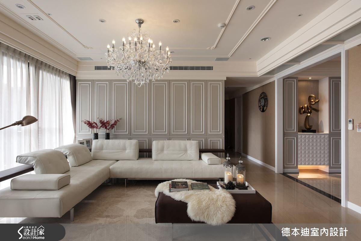 65坪新成屋(5年以下)_新古典客廳案例圖片_德本迪室內設計有限公司_德本迪_06之7