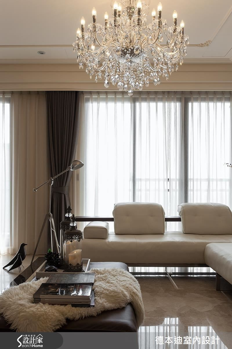 65坪新成屋(5年以下)_新古典客廳案例圖片_德本迪室內設計有限公司_德本迪_06之13