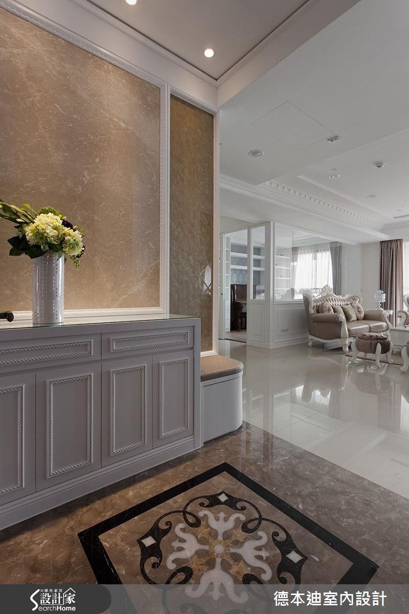 40坪新成屋(5年以下)_新古典玄關案例圖片_德本迪室內設計有限公司_德本迪_12之1