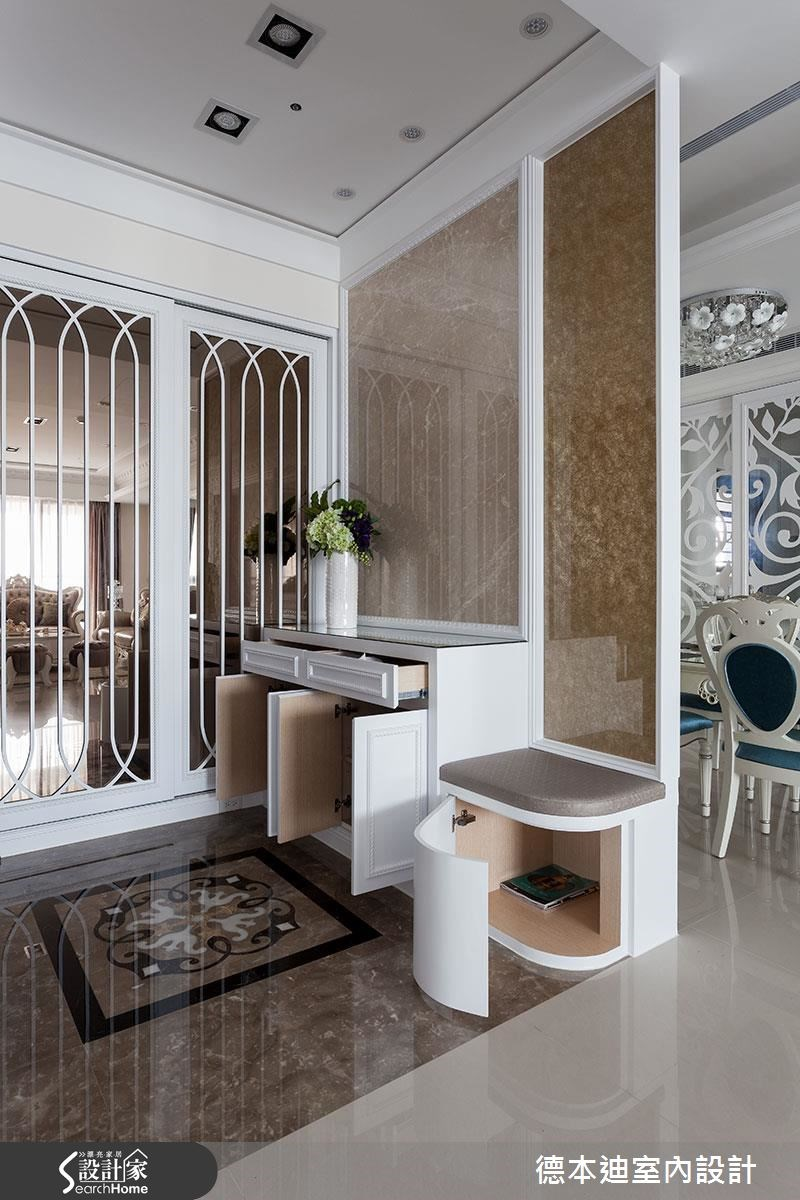 40坪新成屋(5年以下)_新古典玄關案例圖片_德本迪室內設計有限公司_德本迪_12之3