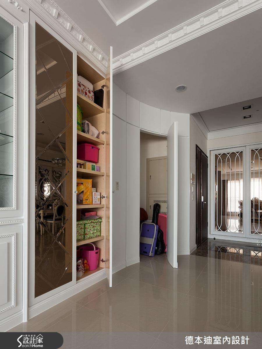 40坪新成屋(5年以下)_新古典玄關儲藏室案例圖片_德本迪室內設計有限公司_德本迪_12之5