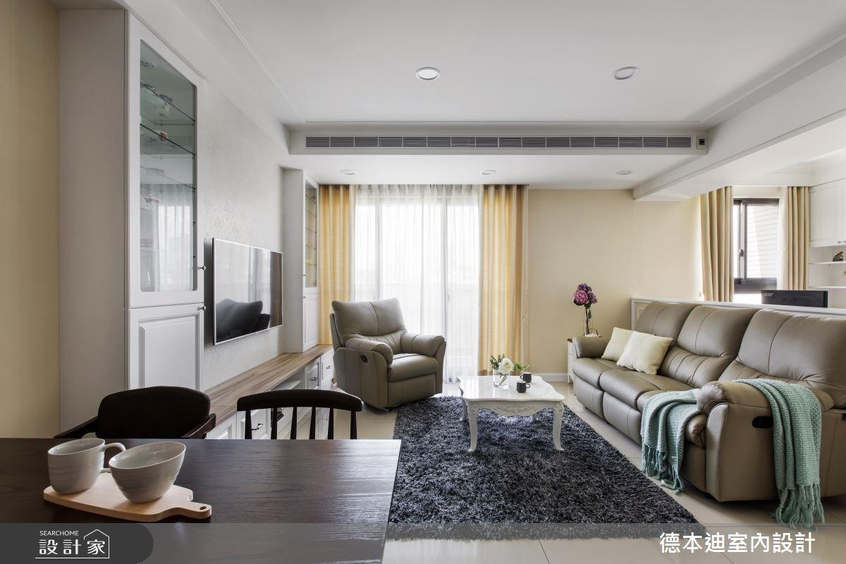 29坪新成屋(5年以下)_美式風客廳案例圖片_德本迪室內設計有限公司_德本迪_15之5