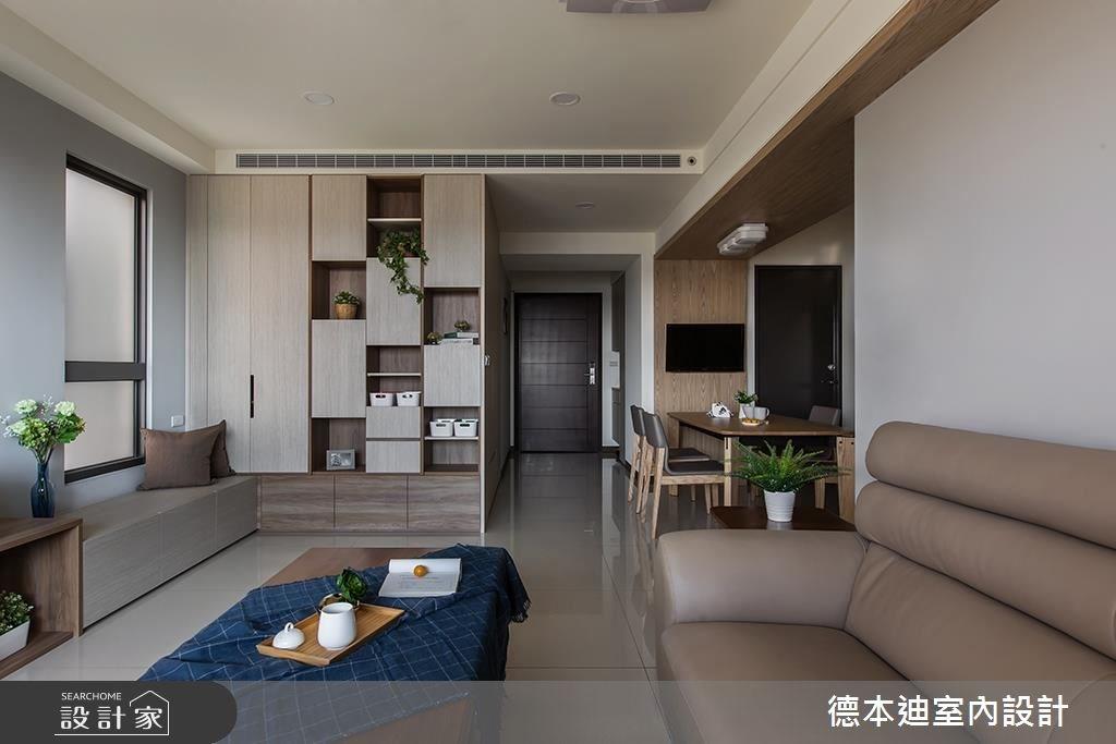 30坪預售屋_混搭風客廳案例圖片_德本迪室內設計有限公司_德本迪_17之2