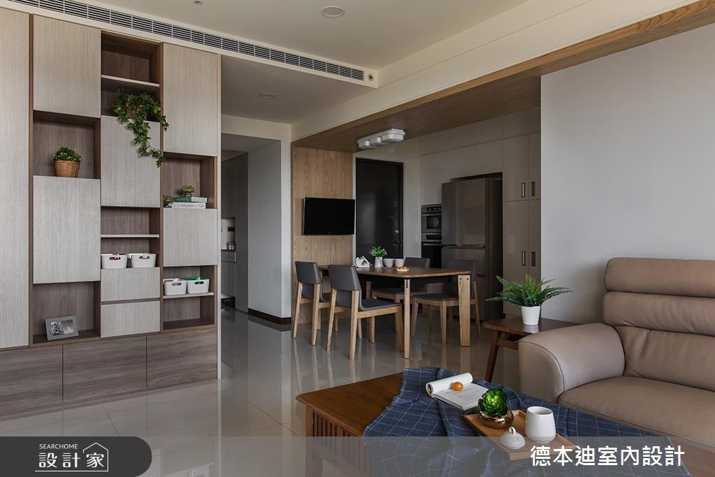30坪預售屋_混搭風客廳餐廳案例圖片_德本迪室內設計有限公司_德本迪_17之3