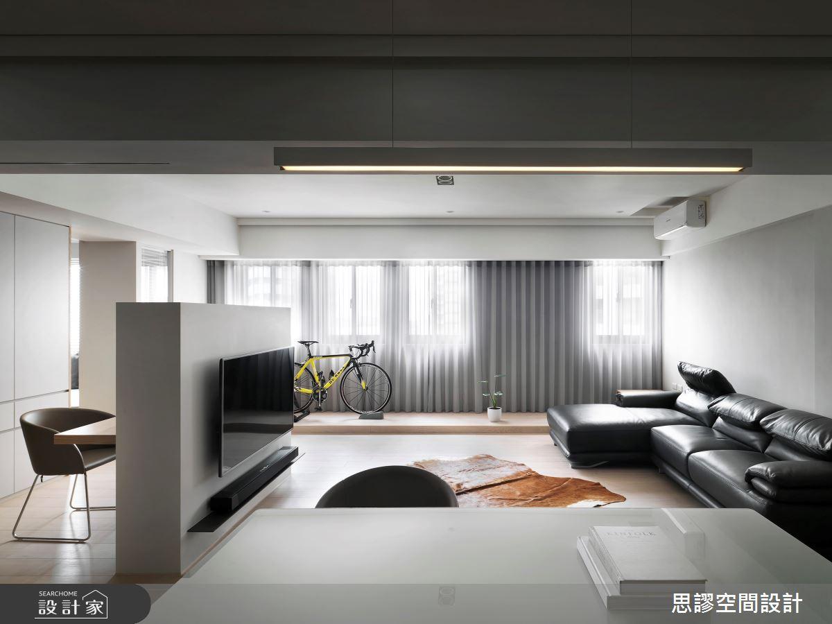 28坪新成屋(5年以下)_簡約風客廳餐廳案例圖片_思謬空間設計有限公司_思謬_13之2