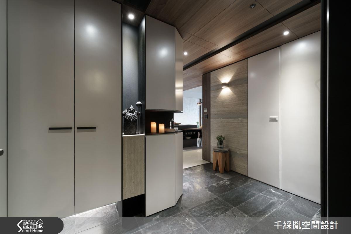 42坪新成屋(5年以下)_混搭風玄關案例圖片_千綵胤空間設計有限公司_千綵胤_01之1