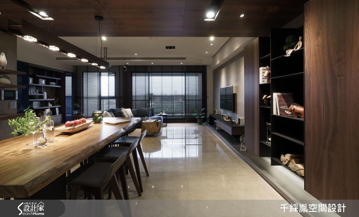43坪新成屋(5年以下)_混搭風餐廳案例圖片_千綵胤空間設計有限公司_千綵胤_02之1