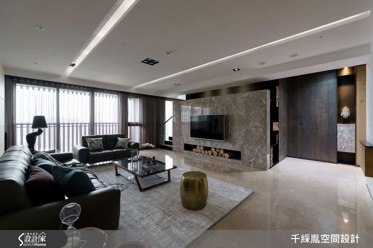 80坪新成屋(5年以下)_混搭風客廳案例圖片_千綵胤空間設計有限公司_千綵胤_08之4