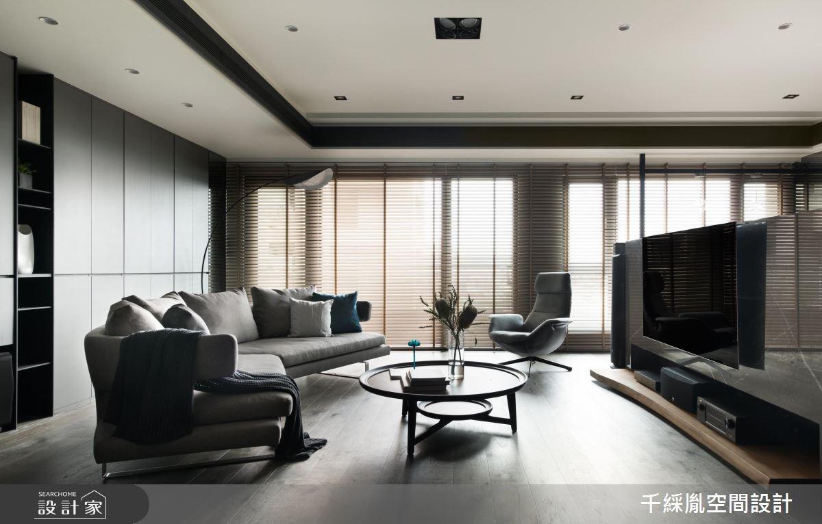 60坪新成屋(5年以下)_混搭風客廳案例圖片_千綵胤空間設計有限公司_千綵胤_11之1