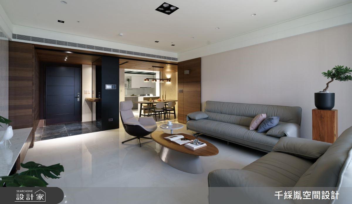 60坪新成屋(5年以下)_現代風客廳案例圖片_千綵胤空間設計有限公司_千綵胤_15之4