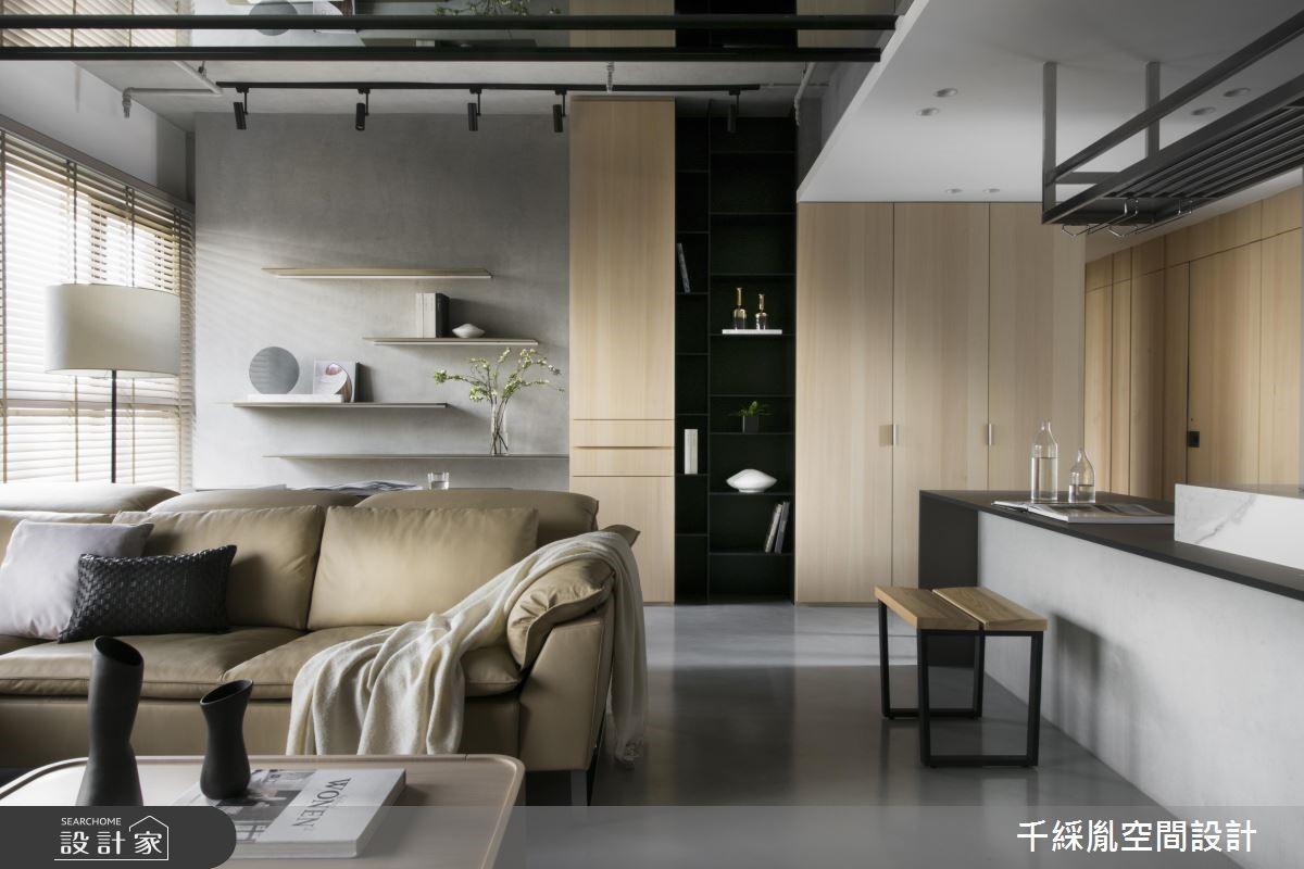 35坪新成屋(5年以下)_現代風客廳案例圖片_千綵胤空間設計有限公司_千綵胤_16之3