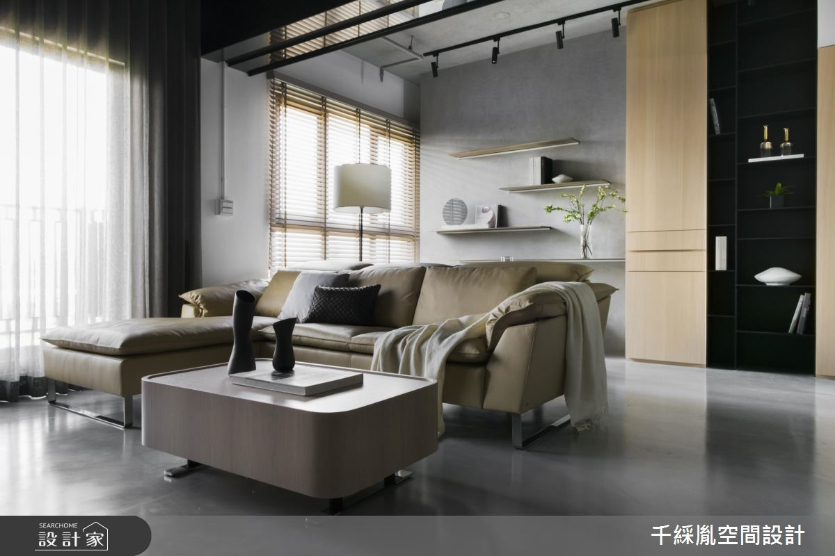 35坪新成屋(5年以下)_現代風客廳案例圖片_千綵胤空間設計有限公司_千綵胤_16之2