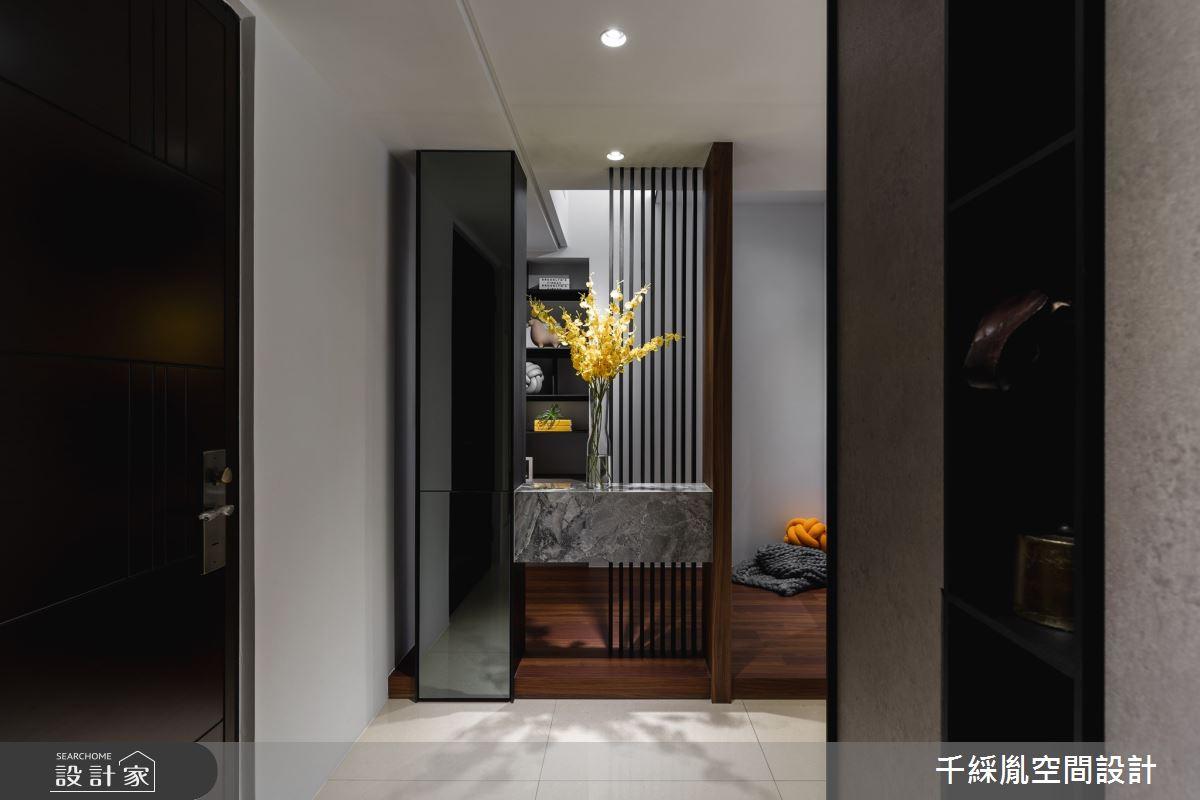 30坪新成屋(5年以下)_簡約風玄關案例圖片_千綵胤空間設計有限公司_千綵胤_22之1