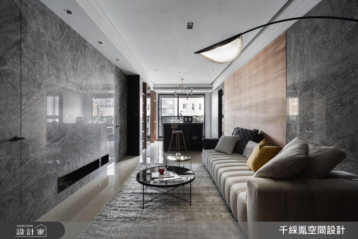 30坪新成屋(5年以下)_簡約風客廳案例圖片_千綵胤空間設計有限公司_千綵胤_22之5