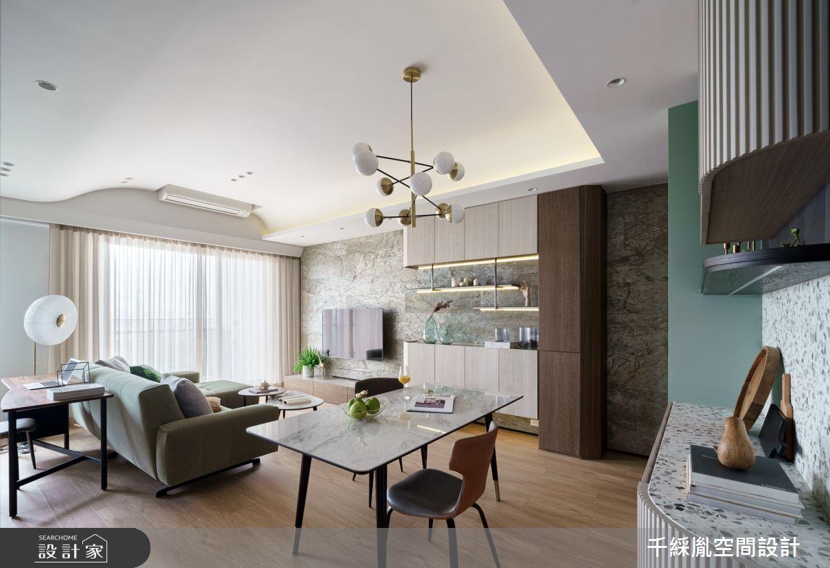 22坪新成屋(5年以下)_混搭風客廳餐廳案例圖片_千綵胤空間設計有限公司_千綵胤_23之6