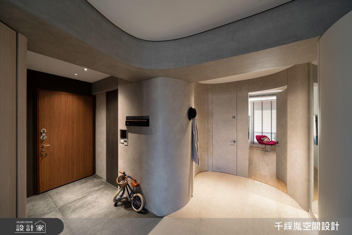 70坪新成屋(5年以下)_混搭風玄關案例圖片_千綵胤空間設計有限公司_千綵胤_24之2