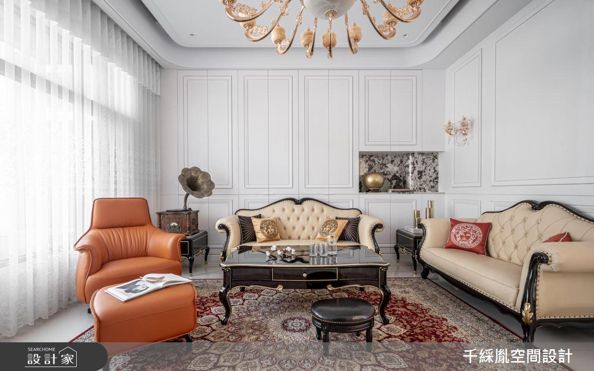 152坪新成屋(5年以下)_新古典客廳案例圖片_千綵胤空間設計有限公司_千綵胤_26之4