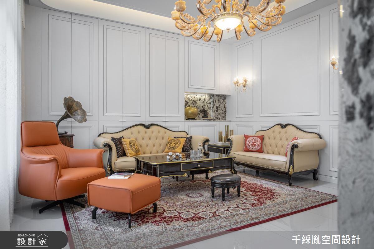 152坪新成屋(5年以下)_新古典客廳案例圖片_千綵胤空間設計有限公司_千綵胤_26之3