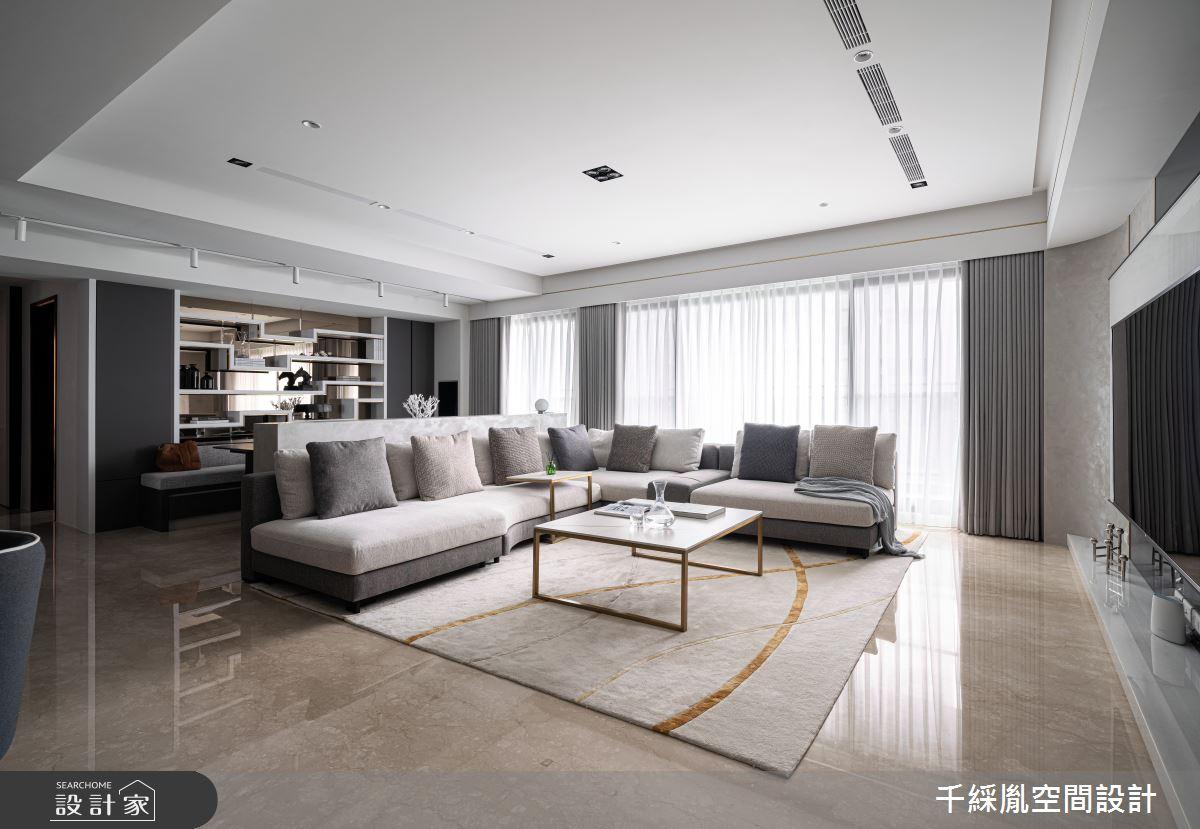 45坪新成屋(5年以下)_現代風客廳案例圖片_千綵胤空間設計有限公司_千綵胤_27之2