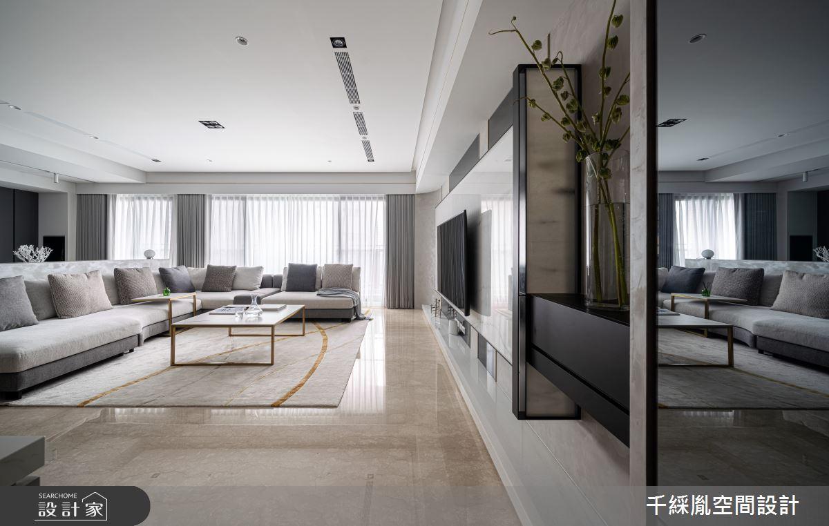 45坪新成屋(5年以下)_現代風客廳案例圖片_千綵胤空間設計有限公司_千綵胤_27之1
