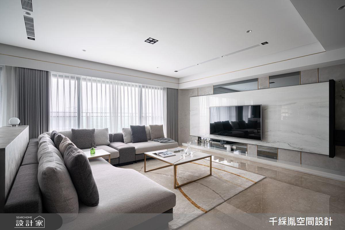 45坪新成屋(5年以下)_現代風客廳案例圖片_千綵胤空間設計有限公司_千綵胤_27之3
