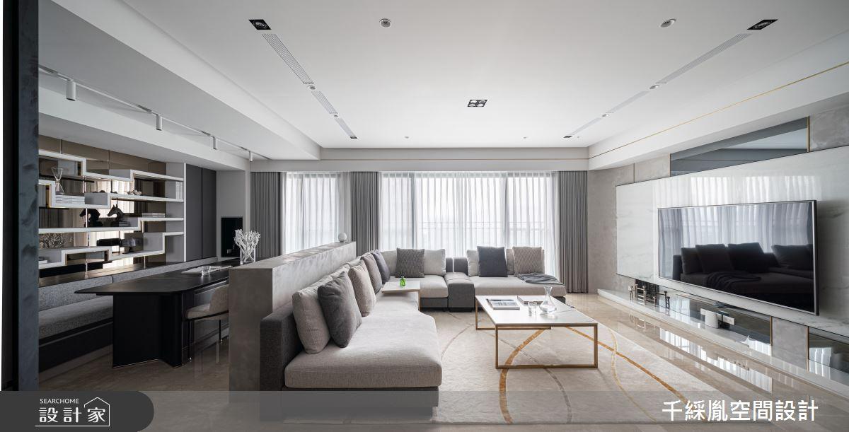 45坪新成屋(5年以下)_現代風客廳案例圖片_千綵胤空間設計有限公司_千綵胤_27之4