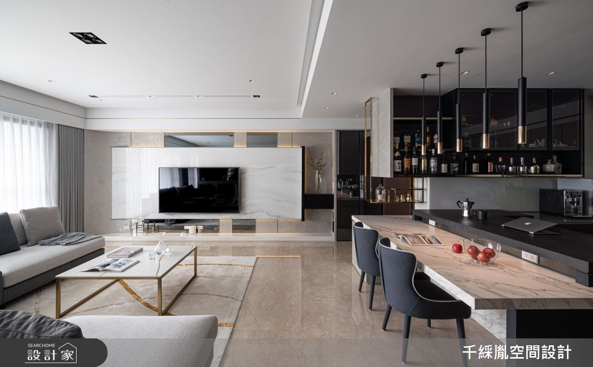 45坪新成屋(5年以下)_現代風客廳餐廳案例圖片_千綵胤空間設計有限公司_千綵胤_27之6