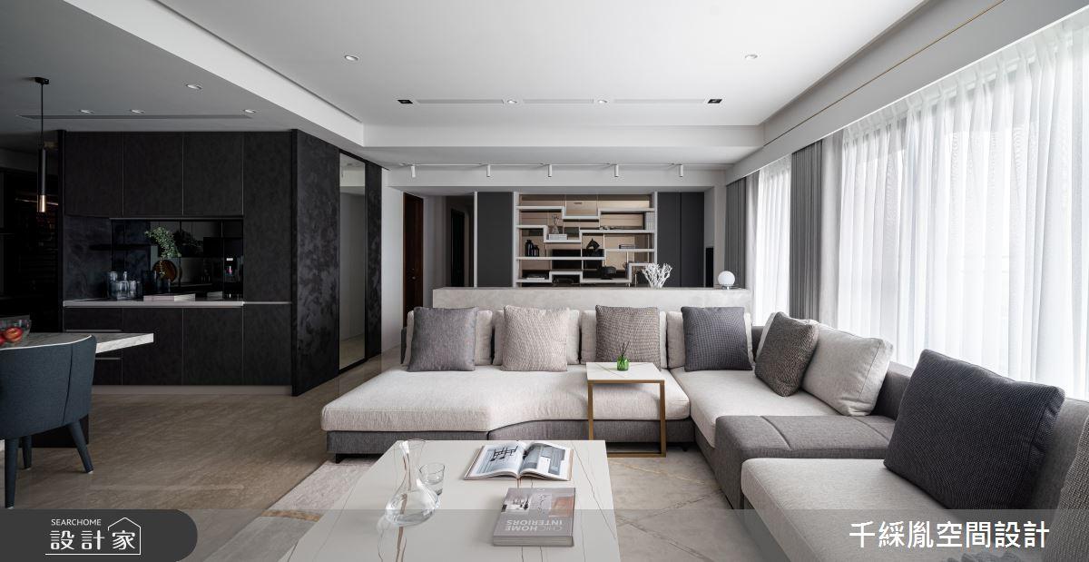 45坪新成屋(5年以下)_現代風客廳案例圖片_千綵胤空間設計有限公司_千綵胤_27之5