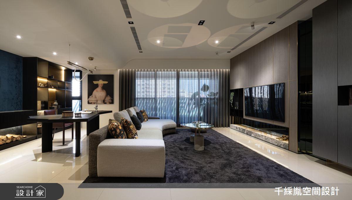 60坪新成屋(5年以下)_現代風客廳案例圖片_千綵胤空間設計有限公司_千綵胤_28之2