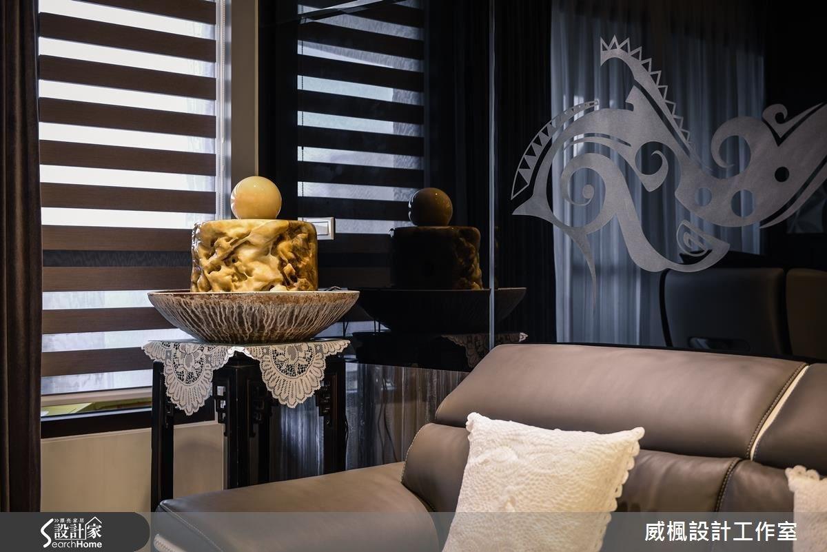 30坪新成屋(5年以下)_奢華風客廳案例圖片_威楓設計工作室_威楓_06之9