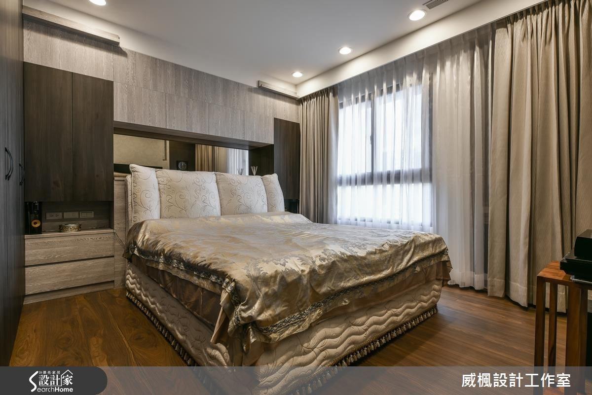 30坪新成屋(5年以下)_奢華風臥室案例圖片_威楓設計工作室_威楓_06之12