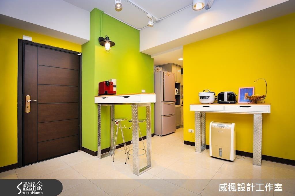 32坪新成屋(5年以下)_工業風玄關案例圖片_威楓設計工作室_威楓_12之1