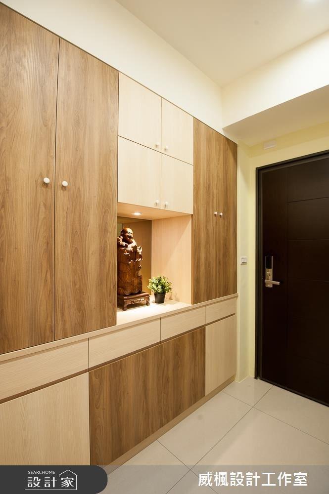 25坪新成屋(5年以下)_現代風玄關案例圖片_威楓設計工作室_威楓_13之2