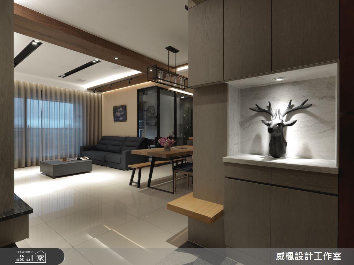40坪新成屋(5年以下)_工業風玄關案例圖片_威楓設計工作室_威楓_17之1