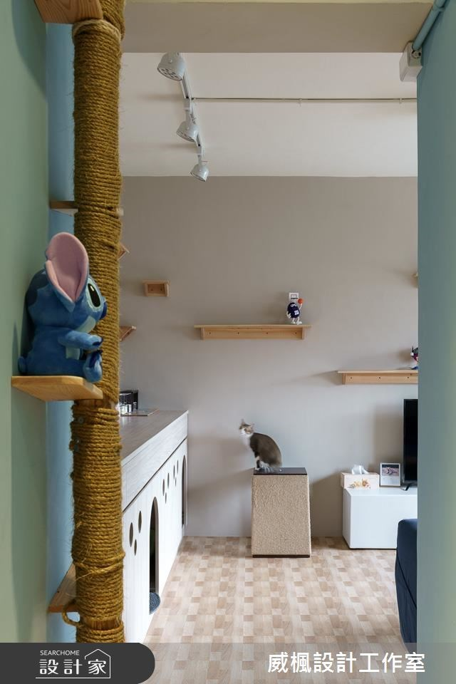25坪中古屋(5~15年)_北歐風客廳寵物案例圖片_威楓設計工作室_威楓_20之1