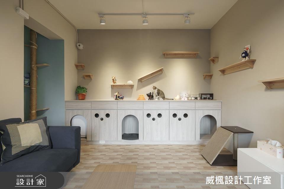 25坪中古屋(5~15年)_北歐風客廳寵物案例圖片_威楓設計工作室_威楓_20之4