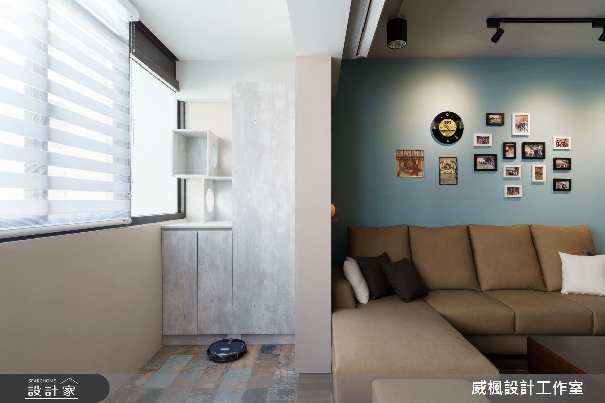 30坪老屋(16~30年)_工業風客廳案例圖片_威楓設計工作室_威楓_21之3