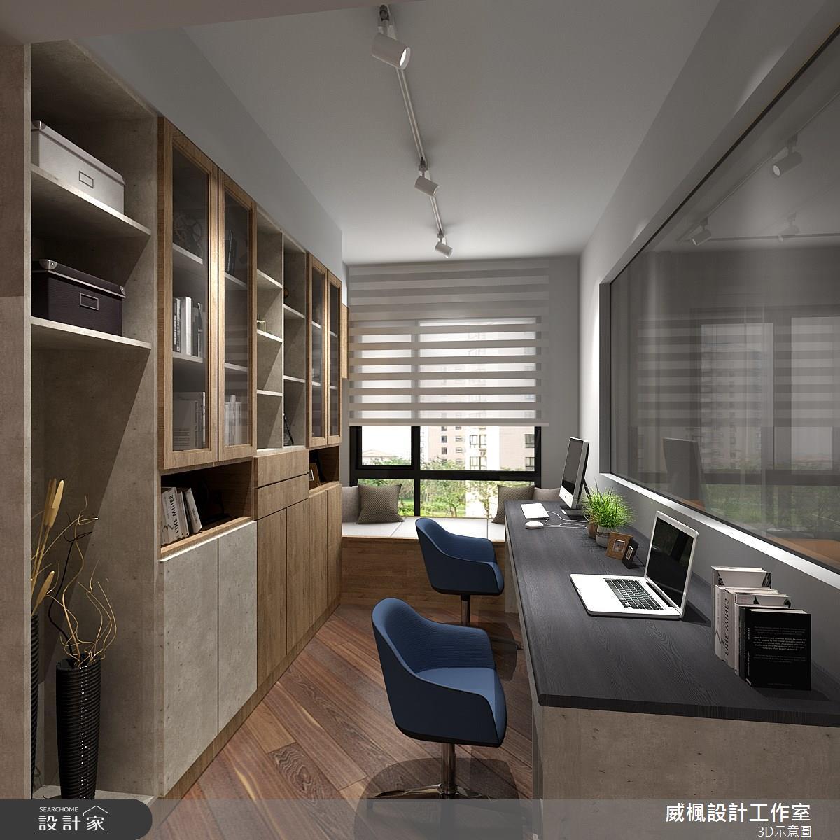 30坪中古屋(5~15年)_現代風書房案例圖片_威楓設計工作室_威楓_25之4