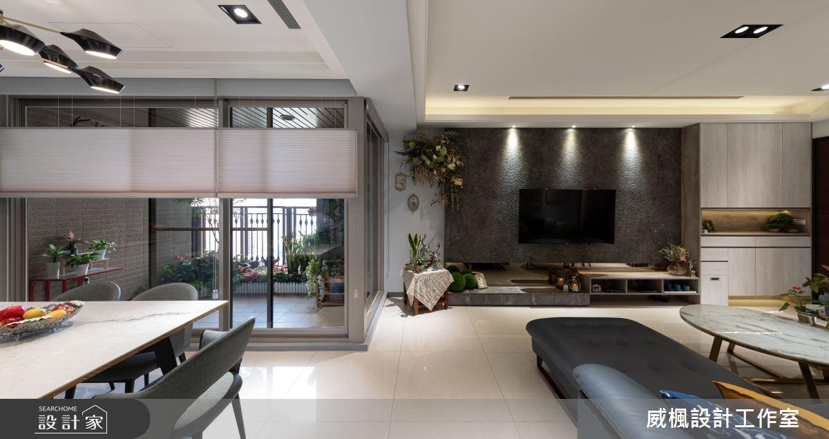 30坪新成屋(5年以下)_奢華風客廳案例圖片_威楓設計工作室_威楓_27之4