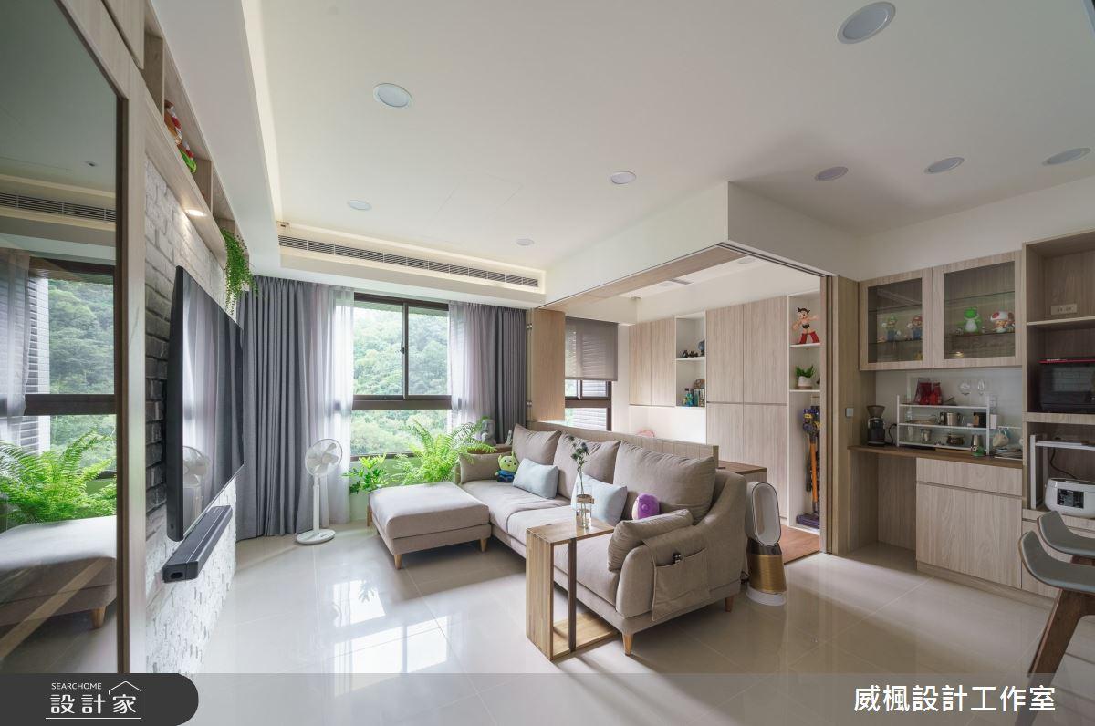 16坪預售屋_日式無印風客廳案例圖片_威楓設計工作室_威楓_28之4