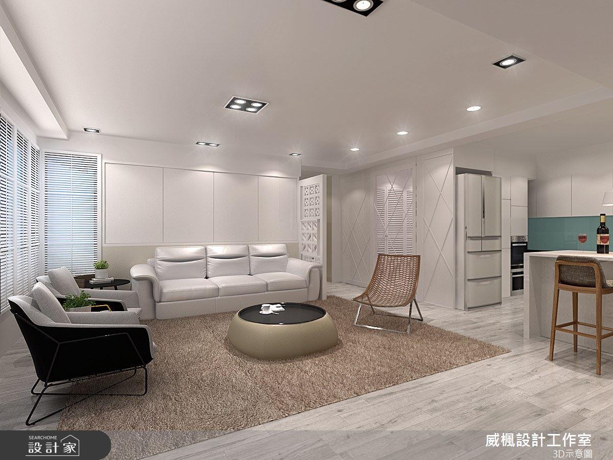 60坪中古屋(5~15年)_美式風客廳案例圖片_威楓設計工作室_威楓_29之3