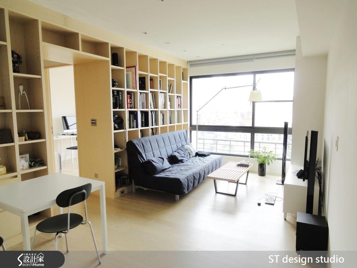 25坪新成屋(5年以下)_簡約風客廳案例圖片_ST design studio_ST_03之3