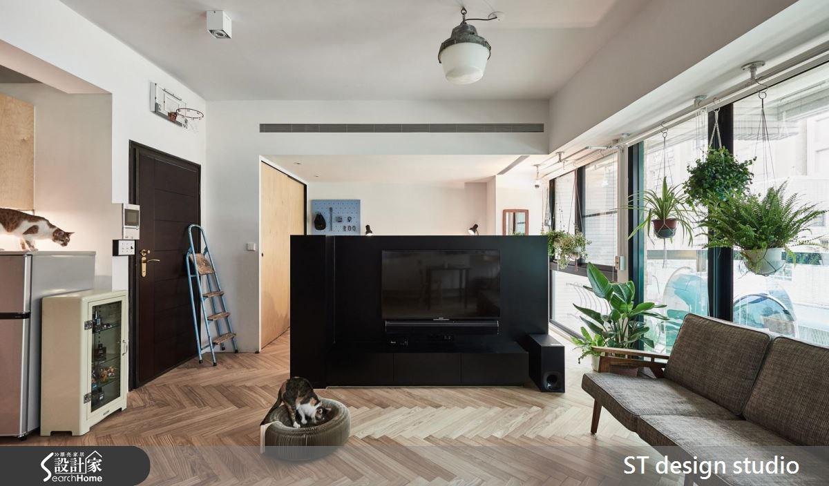 12坪中古屋(5~15年)_休閒風客廳寵物案例圖片_ST design studio_ST_04之3