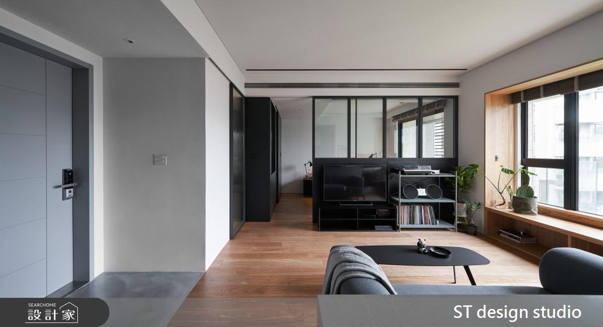 16坪新成屋(5年以下)_簡約風客廳案例圖片_ST design studio_ST_07之2