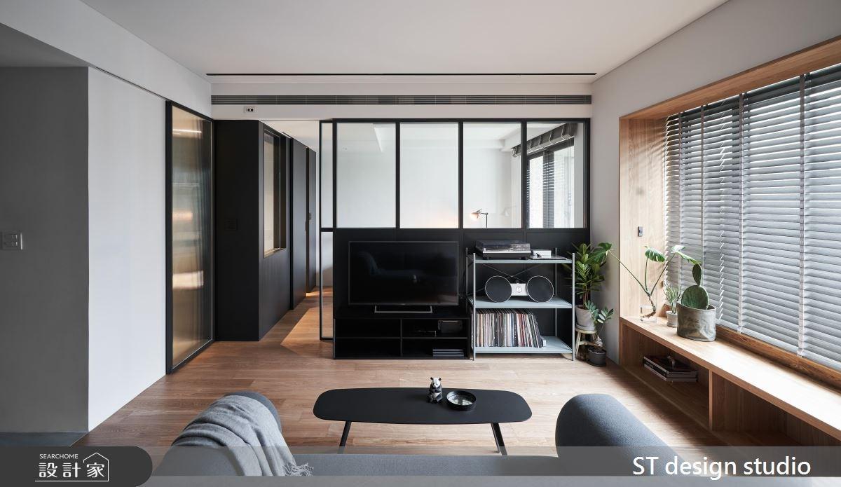 16坪新成屋(5年以下)_簡約風客廳案例圖片_ST design studio_ST_07之3