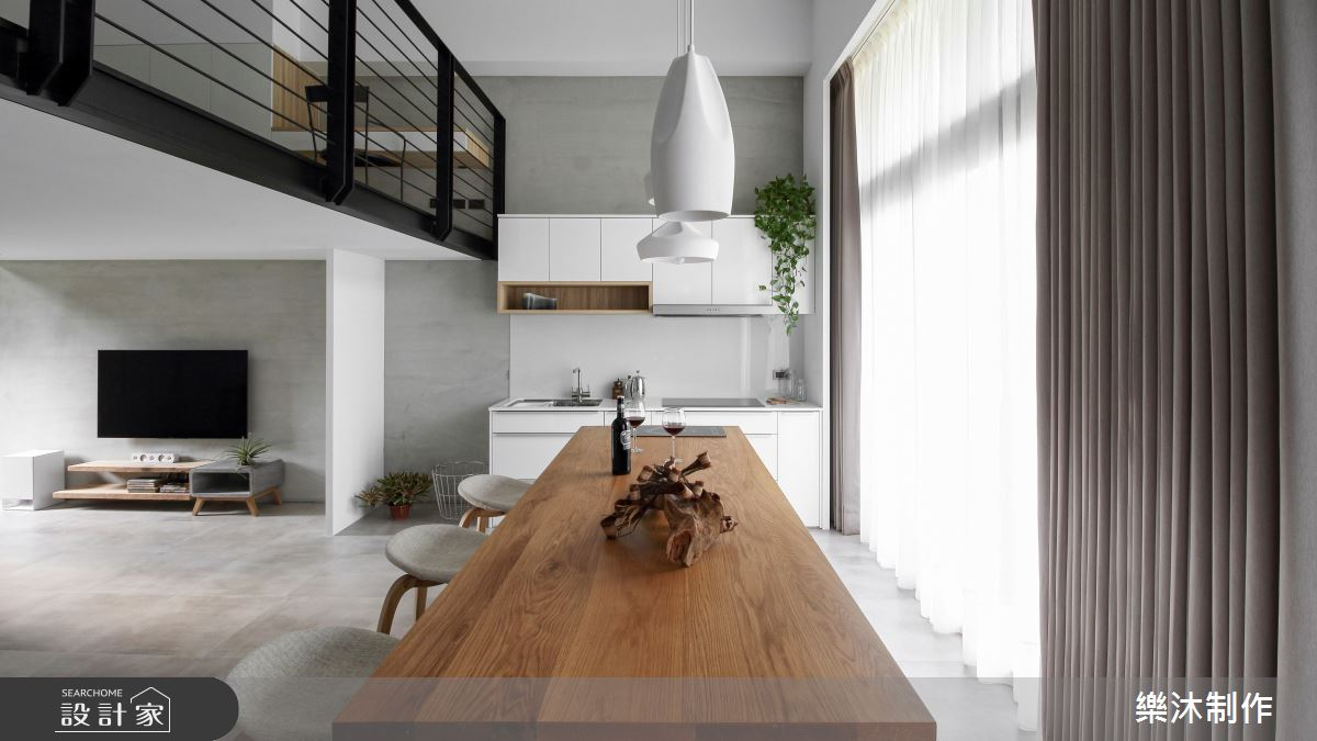 17坪新成屋(5年以下)_北歐風案例圖片_樂沐制作空間設計_樂沐_02之1