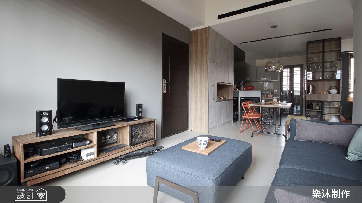 20坪新成屋(5年以下)_工業風案例圖片_樂沐制作空間設計_樂沐_03之2