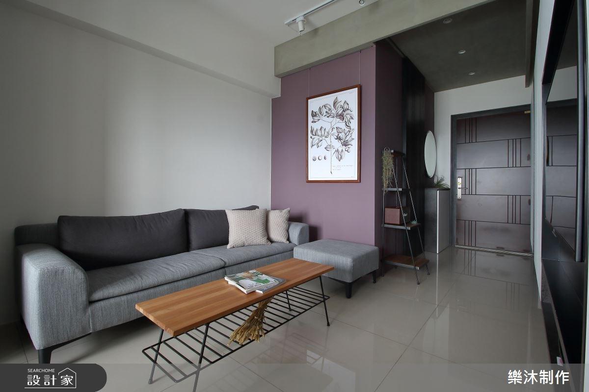 15坪新成屋(5年以下)_現代風客廳案例圖片_樂沐制作空間設計_樂沐_05之2