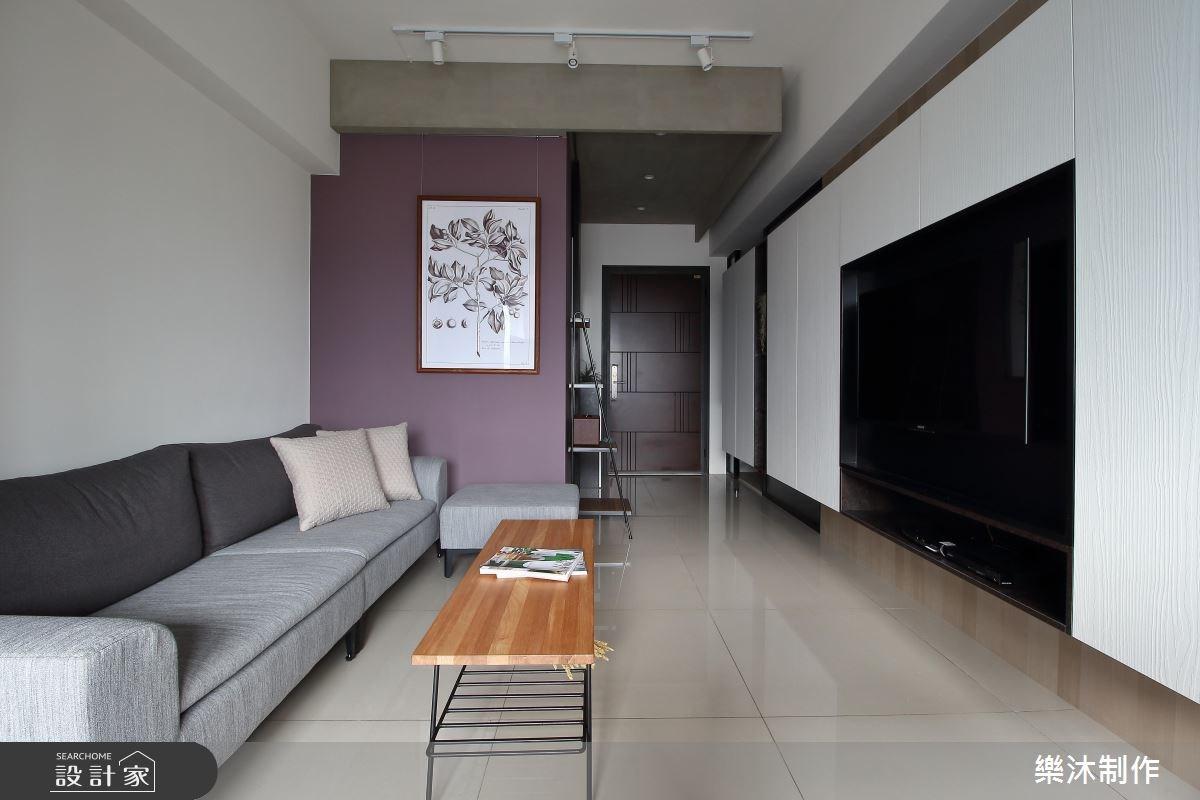 15坪新成屋(5年以下)_現代風客廳案例圖片_樂沐制作空間設計_樂沐_05之3